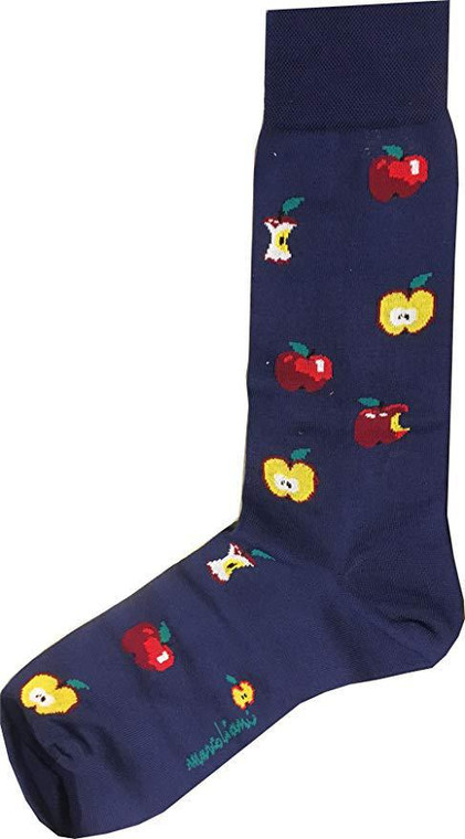 Marcoliani Lisle Gift Apple Blue Socks