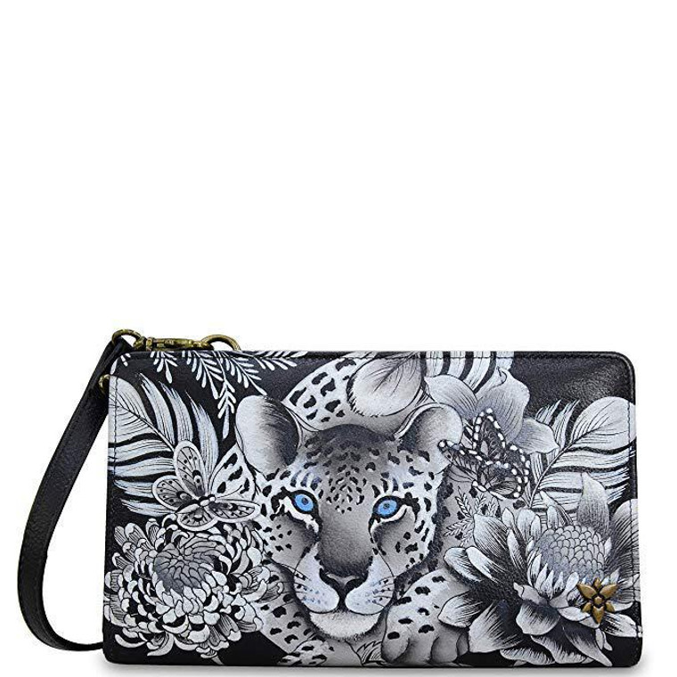 Anuschka Organizer Phone Wallet Cleopatra's Leopard