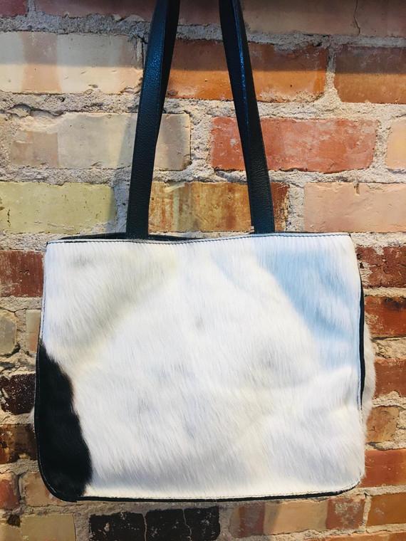 Gabi Capobianco Small Shopper White/Brown/Black