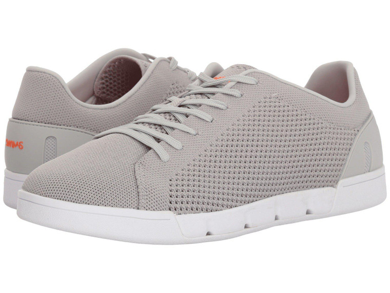 Swims Breeze Tennis Knit Sneaker Light Grey-White