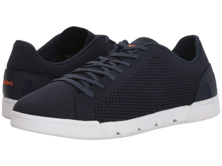 Swims Breeze Tennis Knit Sneakers Navy-White