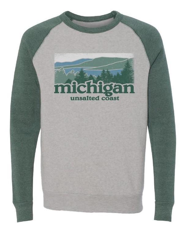 Unsalted Coast Raglan Crew Sweatshirt Oatmeal/Pine