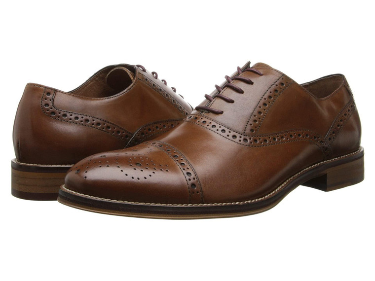 Johnston & Murphy Conard Cap Toe Tan