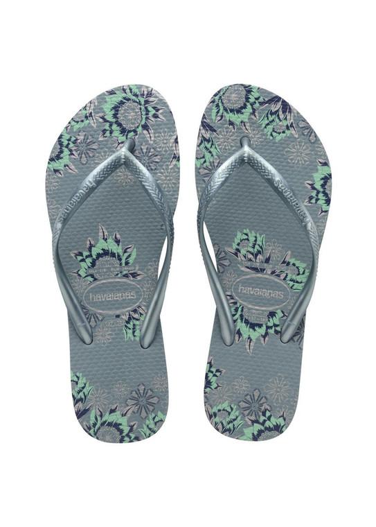 Havaianas Slim Organic Silver Blue Sandal