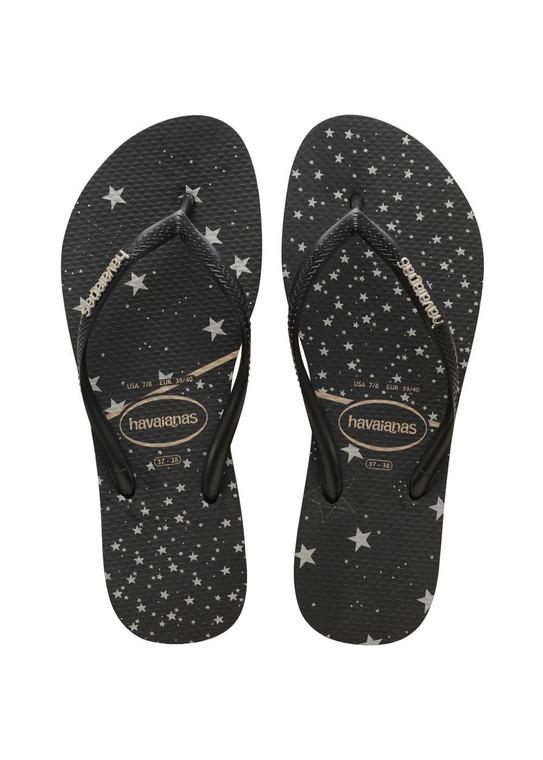 Havaianas Slim Logo Metallic Black/Black/Silver Sandal