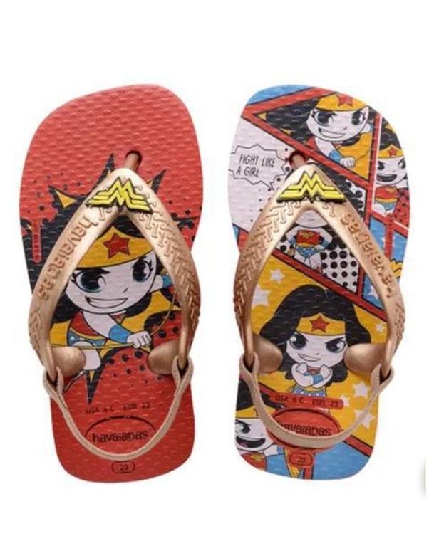 Havaianas Baby Heroes Ruby Red/Rose Gold