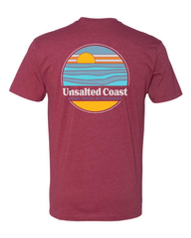 Unsalted Coast Great American Outdoors Tee Cardinal