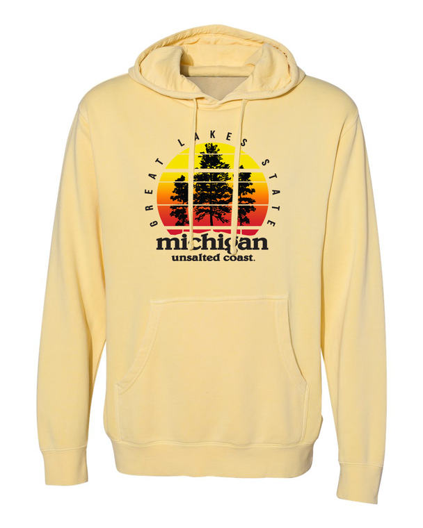 Unsalted Coast Sunset Hoodie Yellow