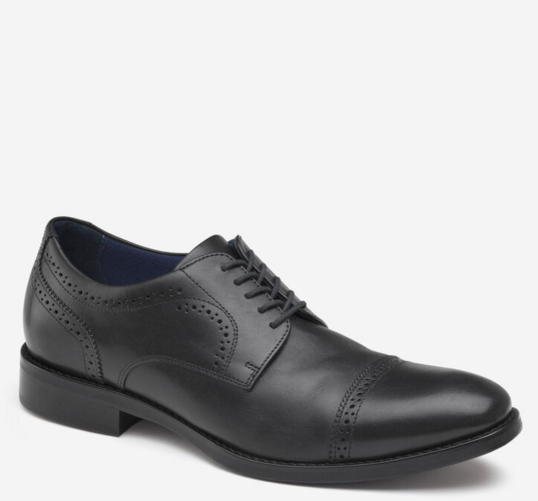 Johnston & Murphy Austin Black Cap Toe