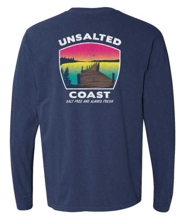 Unsalted Coast L/S Dock Navy