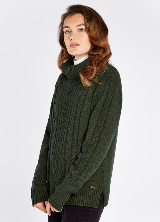 Dubarry Kennedy Cable Stitch Sweater Olive