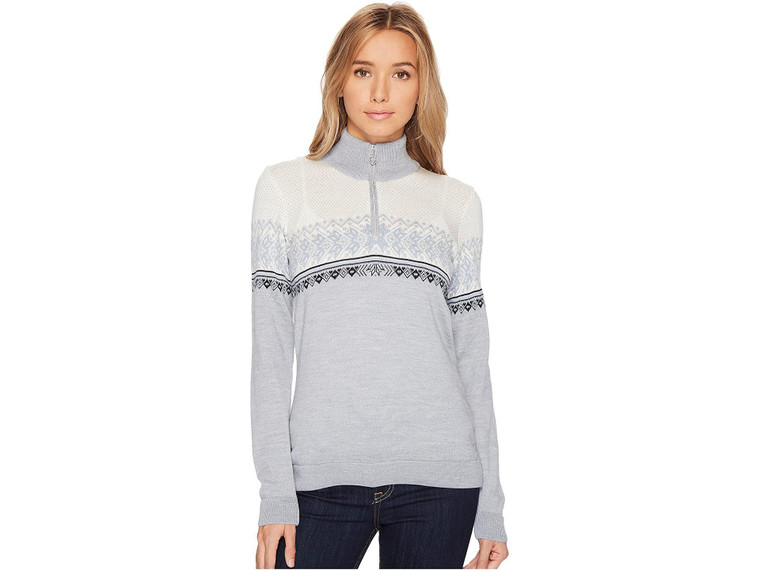 Dale of Norway Hovden Sweater T-Gery/Ice Blue/Navy/Off-White MD