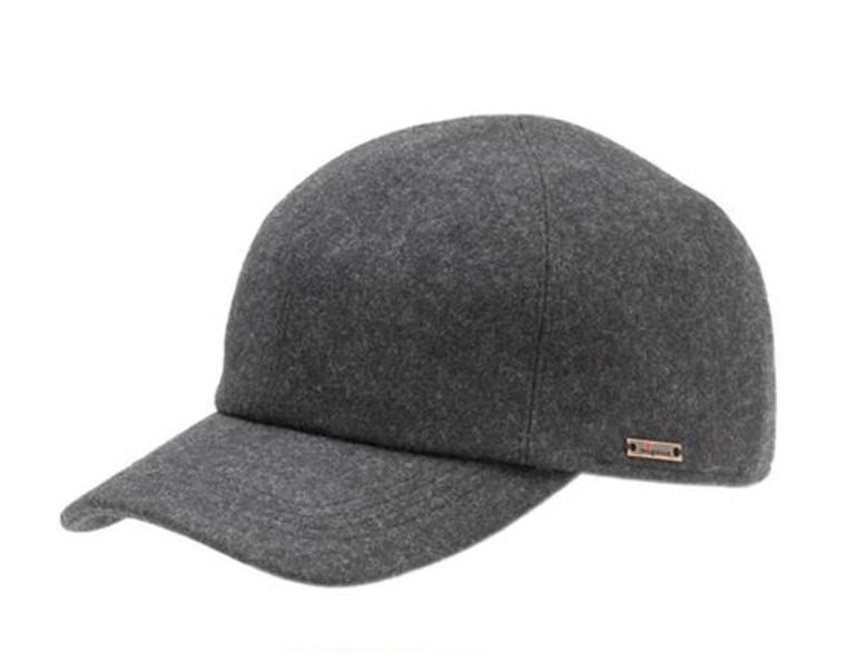 Wigens Grey Baseball Cap w/ Ear Flaps