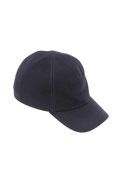 Wigens Navy Baseball Cap w/ Ear Flaps