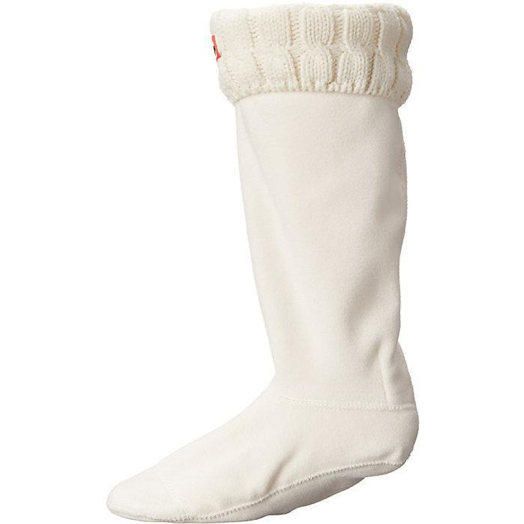 Hunter Original Tall 6 Stitch Cable Sock Hunter White