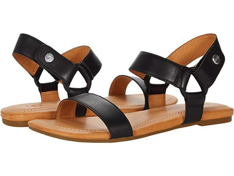 UGG Rynell Sandal Black Leather