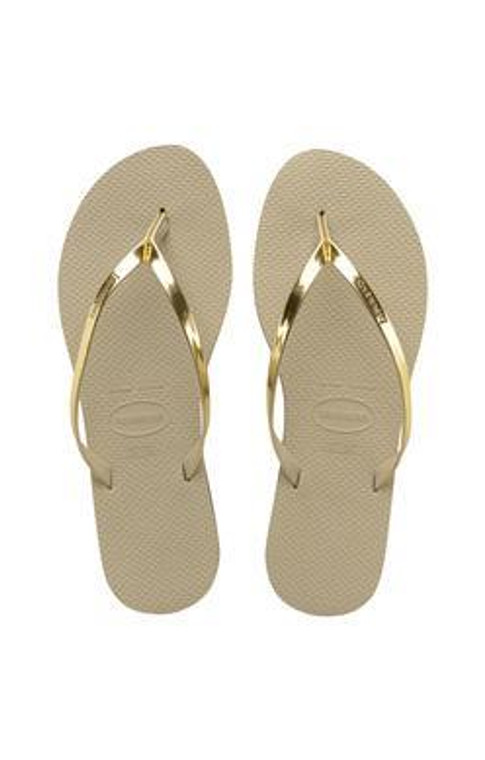 Havaianas You Metallic Sandal Sand Grey/Light Golden
