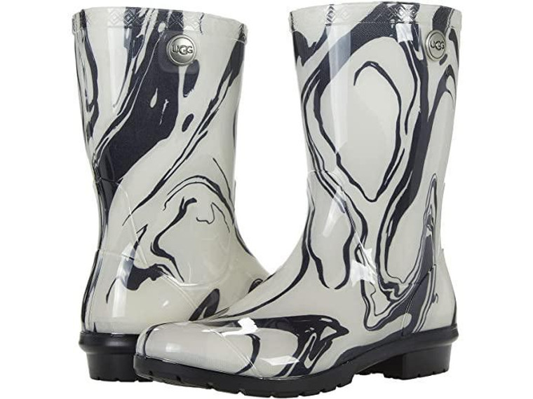 UGG Sienna Rain Boot Black/White Marble