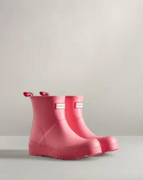 Hunter Original Play Boot Short Pink Shiver