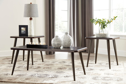 Fazani Dark Brown Occasional Table Set