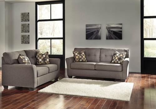 Tibbee Slate Sofa & Loveseat
