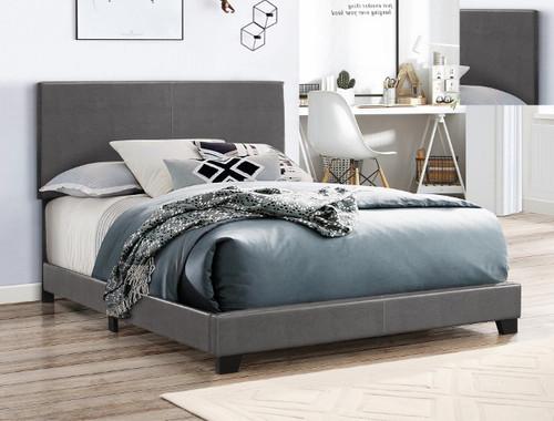Erin Queen Bed- Grey Finish