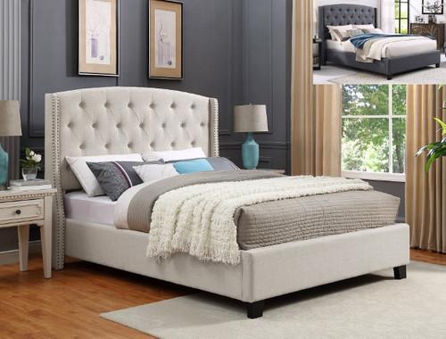 Eva Queen Bed- Ivory