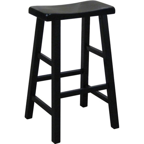 "Kirin 24"" Saddle Stool- Black Finish"