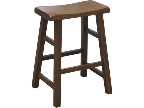 "Kirin 24"" Saddle Stool- Dark Oak Finish"