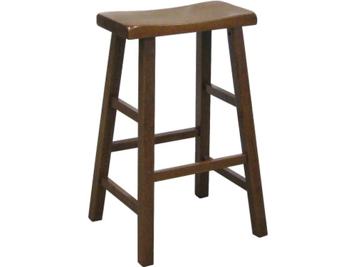 "Kirin 29"" Saddle Stool- Dark Oak Finish"