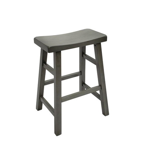 "Kirin 24"" Saddle Stool- Grey Finish"