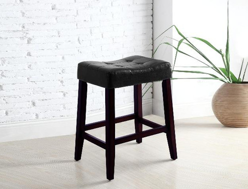 "Kent 24"" Saddle Chair- Black Finish"