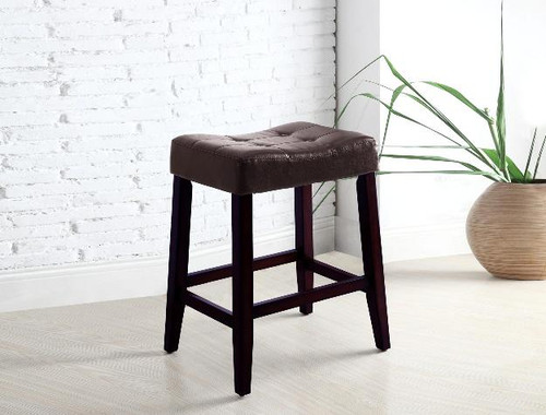 "Kent 24"" Saddle Chair- Espresso Finish"