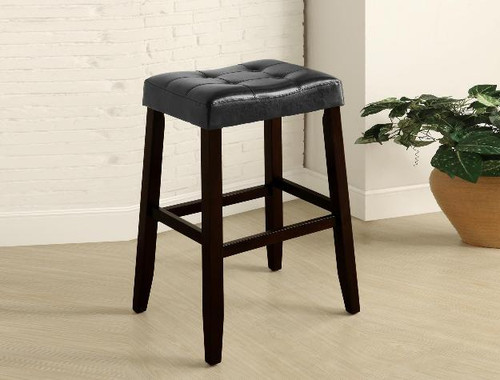 "Kent 29"" Saddle Chair- Black Finish"
