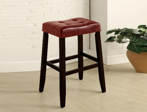 "Kent 29"" Saddle Chair- Red Finish"