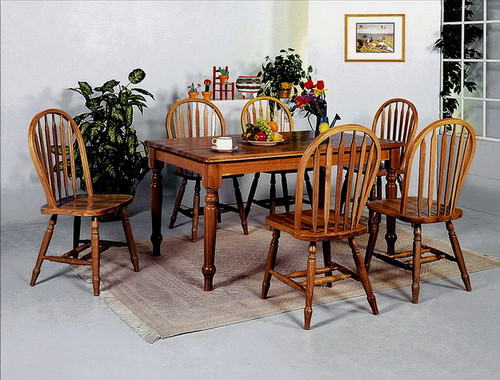 Windsor Arrow Chair- Dark Oak Finish, K/D