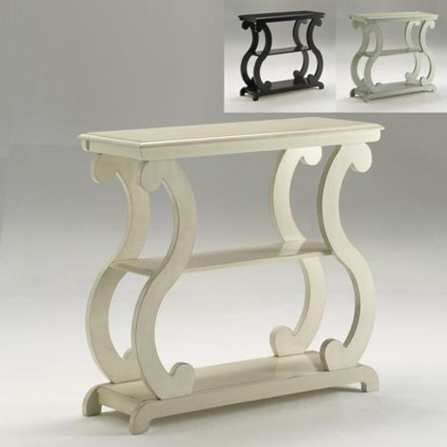 Lucy Concole Table- Ivory Finish