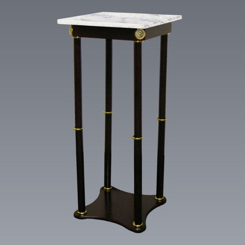 Square Marble Stand- White Finish