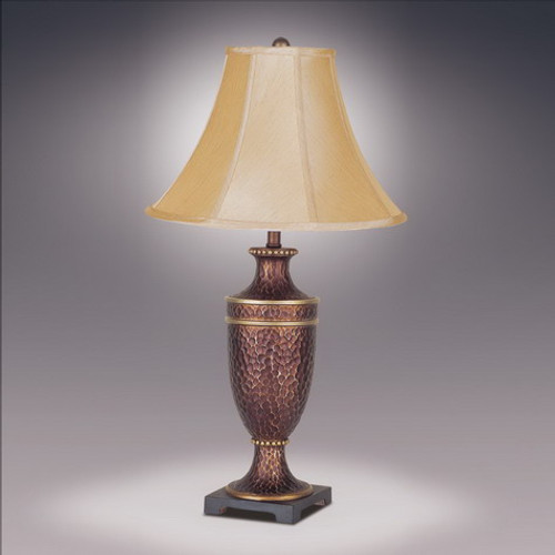 Hammered Urn Lamp w/ Bell Shade