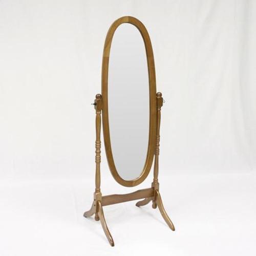 Chevel Mirror- Oak Finish