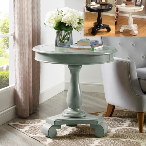 Constance End Table- Grey Finish