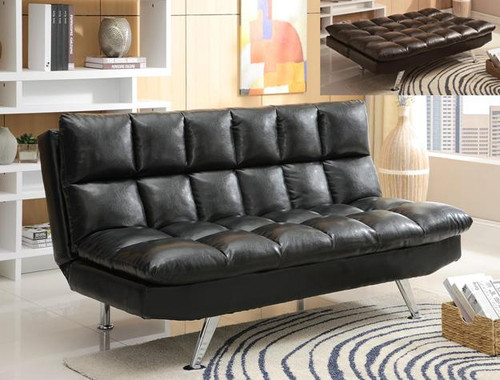 Sundown Adjustable Sofa- Black Finish