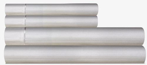 Egyptian Cotton King Pillow Cases - 420 Thread Count - Color: Dove Grey White