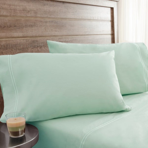 Egyptian Cotton King Pillow Cases - 420 Thread Count - Color: Pale Green