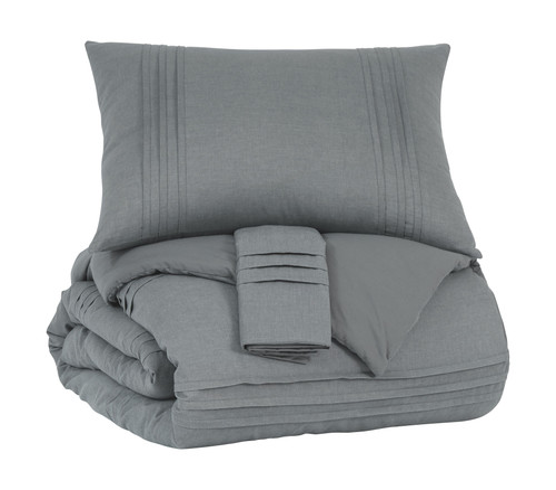 Mattias Gray King Comforter Set