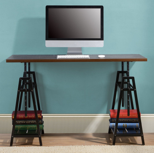 Irene Dark Brown Adjustable Height Desk
