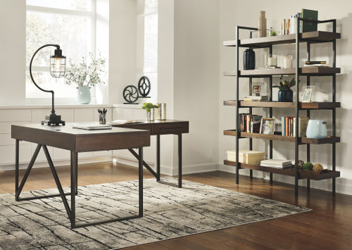 Starmore Brown L Shaped Desk & Bookcase