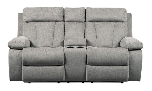 Mitchiner Fog Double Rec Loveseat w/Console