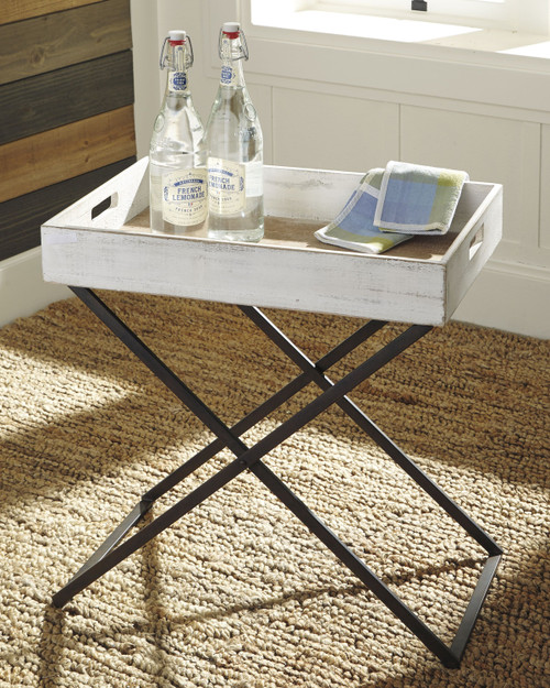 Janfield Antique White Accent Table