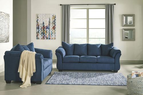 Darcy Blue Sofa & Loveseat